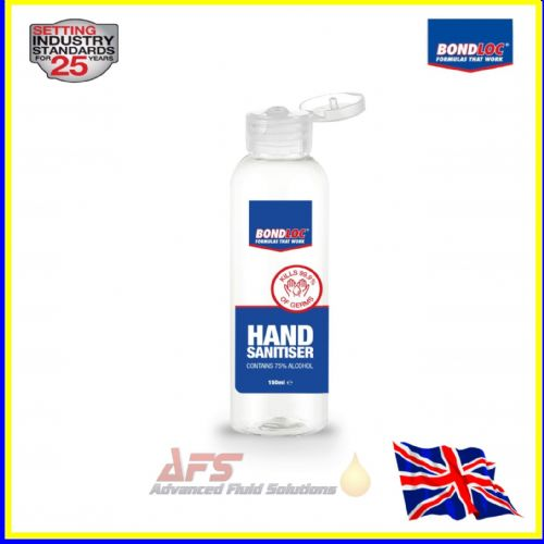 BONDLOC  150ml 75% Alcohol-Based Hand Disinfectant Sanitiser